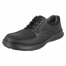 Clarks Cotrell Edge - Black Oily Leather Mens Shoes 11 UK