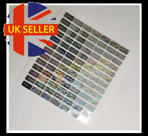 SECURITY SEAL, TAMPER EVIDENT Warranty void stickers 20mmX10mm hologram Numbered