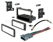 COMPLETE STEREO RADIO INSTALL DASH KIT SINGLE + WIRE HARNESS AND ANTENNA ADAPTER