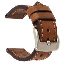 26mm NEW COW Leather Strap Brown Watch Band for fits PANERAI Copper Tang x1