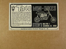 1969 Taco Mini-Bikes TRAIL 100 Mini-Bike minibike vintage print Ad