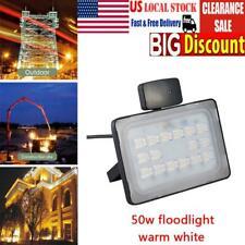50W PIR Motion Sensor LED Flood Light Outdoor Spotlight Security Landscape Lamp