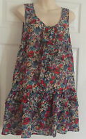 NEW LOOK LONG TUNIC FLORAL DRESS/TOP Size 14