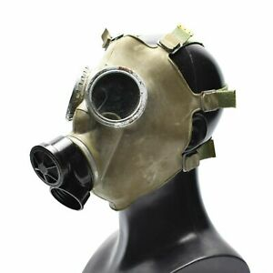 Genuine Polish Gas Mask respiratory chemical OD army issue military MC-1 DIRTY