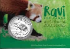 AUSTRALIA 2018 $1 RAVI - RED PANDA.999 PURE SILVER 1oz UNCIRCULATED COIN IN CARD
