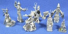 New listing Lot Of 7 Pewter Figures Magic Wizards Sorcerers