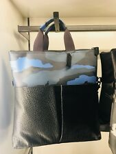 NWT COACH F29736 Men's Charles Foldover Tote Bag Dusk Camo Print Leather $475