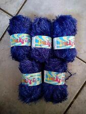 250g SIRDAR FUNKY FUR MAGIC eyelash wisp WOOL YARN – 539 GENTIAN purple blue DK