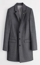 ZADIG & VOLTAIRE M UK10 US6 FR38 IT42 GREY WOOL MEZZO TAILORED JACKET COAT