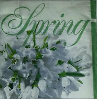 4 x single  PAPER NAPKINS TABLE PARTY  - SPRING  FLOWERS - DECOUPAGE CRAFT-26