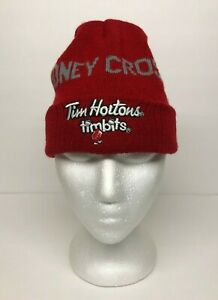Tim Hortons Kids Beanie Cap Sidney Crosby Timbits Knit Winter Hat Toque Red