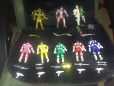 Mighty Morphin Power Rangers set of 5 Flip heads action figures and 3 villians