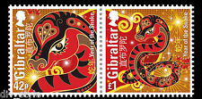 Year of the Snake se-tenant pair of stamps mnh 2013 Gibraltar #1364