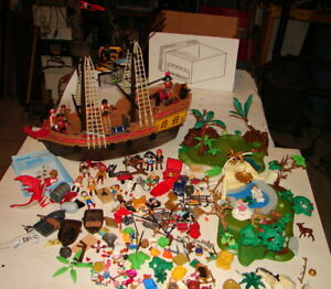 PLAYMOBIL 5135 Pirate ship near complete and other playsets Lot dragon   921