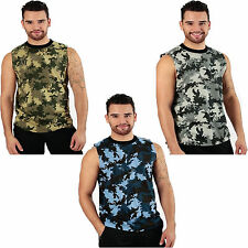 Men's Black Blue Green Camo Muscle Shirt Tank Top Love Deer Hunting Camouflage