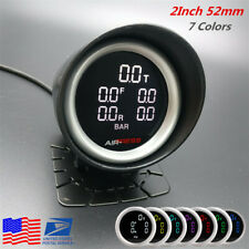 52mm 7Colors Air Suspension Pressure Gauge Bar PSI Air Ride Gauge 1/8NPT Sensors
