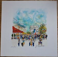 """Urbain Huchet (French b1930) Signed Limited Edition Lithograph """"Arc De Triomphe"""""""