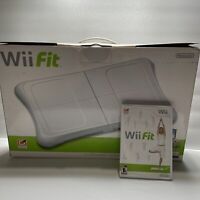 Nintendo Wii Fit Plus Game W/ Balance Board Workout fitness Tested