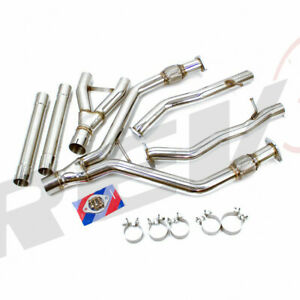 """REV9 FIT 16-19 Q50 V6 3.0L 2.5"""" TO 3""""  Y-PIPE STAINLESS STEEL EXHAUST PIPING KIT"""