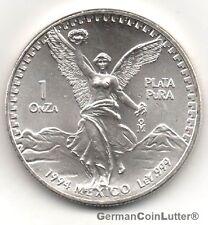 1994 MEXICO Ley 999 Fine Silver, Libertad, 1Onza Plata Pura, UNC (#35702)