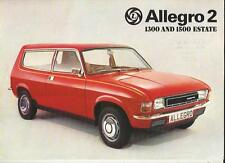 BRITISH LEYLAND ALLEGRO 2 1300 AND 1500 ESTATE SALES BROCHURE DEC. 1975 FOR 1976
