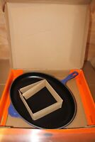 Le Creuset France # 40 Oval Cast Iron Enamel Blue Large Skillet Pan New in Box