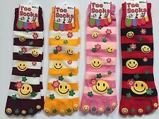 Ladies Girls Warm Winter Toe Socks Stripes Smiley Face finger socks UK 4-7