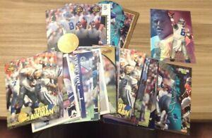 Troy Aikman Lot (50) Dallas Cowboys HOF Super Bowl Many Dupes Showcase Pinnacle