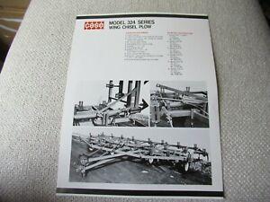 Case 324 chisel plow specification sheet brochure