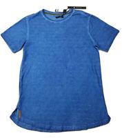 8IGHTH DSTRKT Men's Short Sleeve Shirt Size Small Navy Broken Line Jaquard