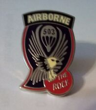 503rd Airborne The Rock Hat Pin