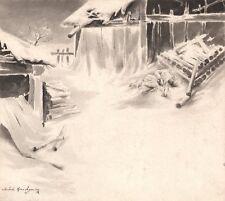 Michel Korochansky. Lavis d'encre pour l'arbre de Noël de Dostoievsky. 1895