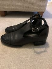 topshop ankle boots Size 3 Black Leather Flat Boot