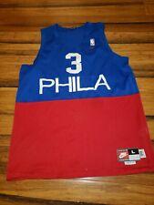 ALLEN IVERSON Philadelphia 76ers Jersey PHILA Rewind Jersey Nike Swingman Blue L