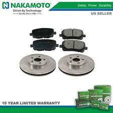 Nakamoto Front Posi Ceramic Brake Pads & Rotors Kit Set for Corolla Matrix Vibe