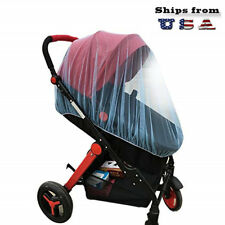 "Baby Mosquito Insect Netting For Stroller, 59""x47"" with Blue Pink Jingle Bell"