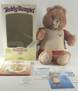 "Vintage 1985 Alchemy Teddy Ruxpin Talking Doll Bear Worlds of Wonder 16"" Tested"
