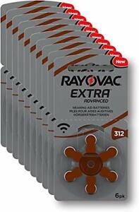 60 piles auditives Rayovac 312 Extra advanced / pile auditive PR41 / piles po...