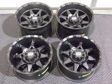 "POLARIS RZR 800 S4 14"" HD6 MATTE BLACK ATV WHEELS (SET 4) 14x7 & 14x9 POL3CA"