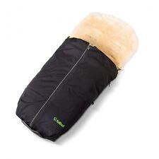 Lammfell Kinderwagen-Fellsack Softshellbezug für Fellsack schwarz