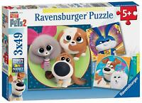 05014 Ravensburger The Secret Life of Pets 2 Jigsaw Puzzle 3x 49pc Age 5 Years+