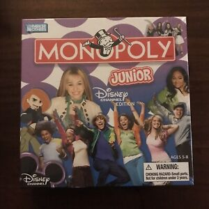 Monopoly Junior Disney Channel Edition Board Game Hannah Montana Parker Bros New
