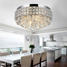 Hot Sell Chrome LED Round Crystal Chandelier Pendant Lamp Ceiling Lighting