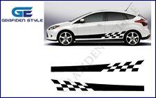 1 Paar AUTO seitenstreifen Racing - Auto Seiten Aufkleber - Car Sticker - Decal!