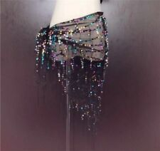 New Belly Dance Costume Sequin Tassel Fringe Hip Scarf Belt Waist Wrap Skirt