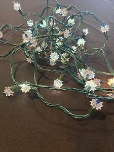 Vintage Christmas Tree Clear Double Star Light Cover  Blinking String Lights