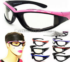 Motorcycle Transition Glasses Biker Riding Safety Photochromic Lens WOMEN PINK