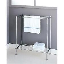 Organize Bathroom Towel Rack Holder Bart Chrome Bath Stand Rail Hanger NEW
