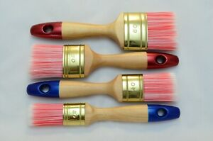 60 to 30 OVAL PINK Paint Brush Set of 4, Synthetic Bristle, Split End Filaments.