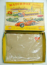 "Matchbox Giftset G-4 ""Grand Prix Racetrack Set"" 1963 leere Box"